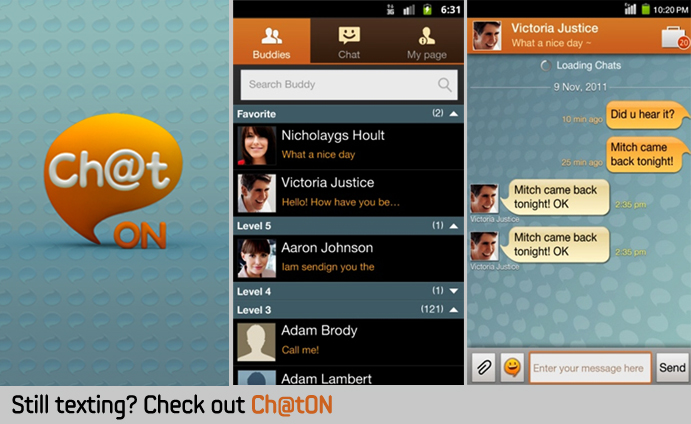 Still texting? Check out Ch@tON