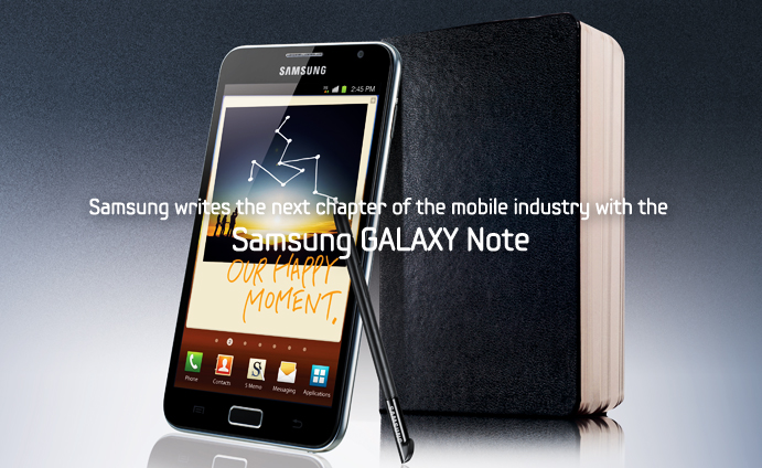 Writing the next chapter of the mobile industry – Samsung GALAXY Note