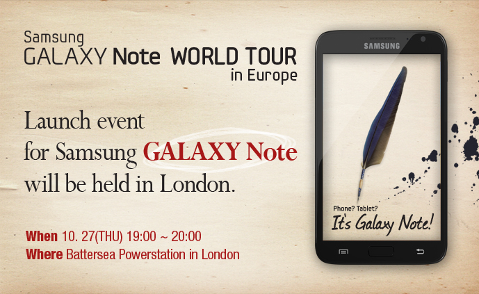 [Live] GALAXY Note debuts in London