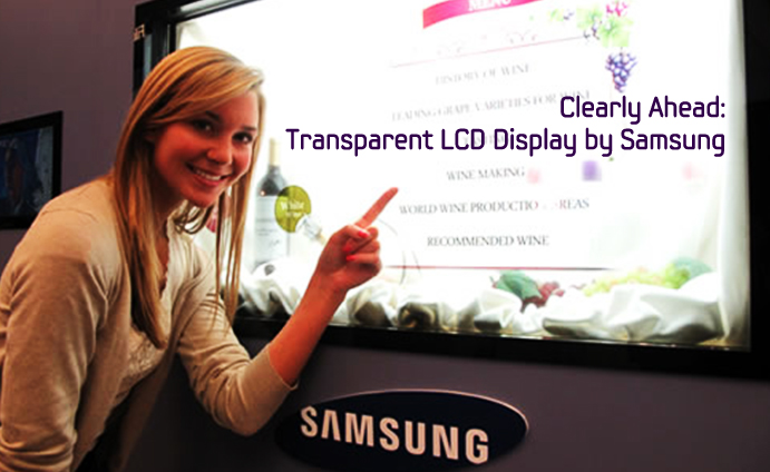 Clearly Ahead: Transparent LCD Display by Samsung