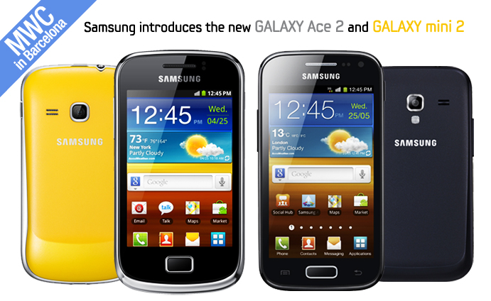 Samsung introduces the new GALAXY Ace 2 and GALAXY mini 2