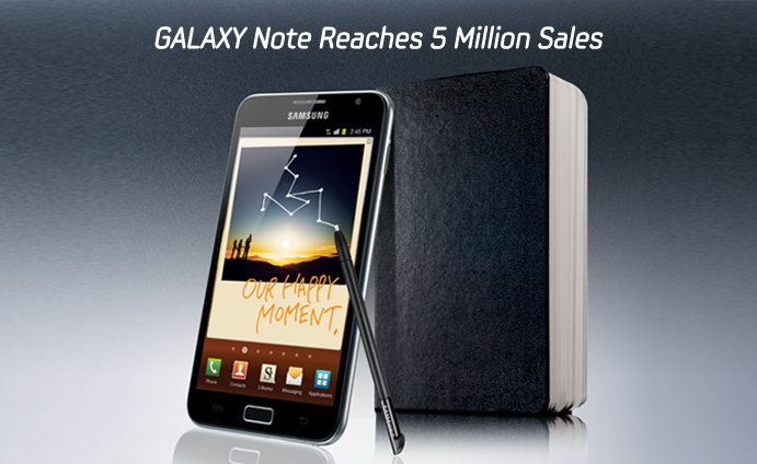 GALAXY Note Reaches 5 Million Sales