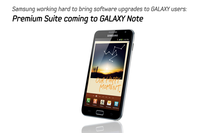 Samsung working hard to bring software upgrades to GALAXY users: Premium Suite coming to GALAXY Note