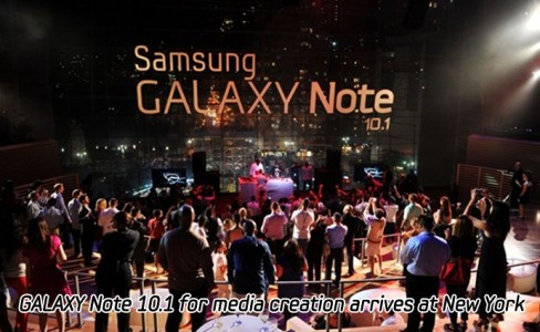 GALAXY Note 10.1 for media creation arrives at New York_m