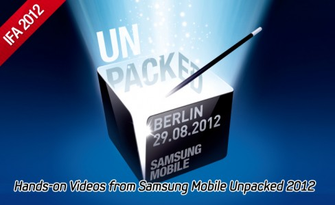 Hands-on Videos from Samsung Mobile Unpacked 2012 _m