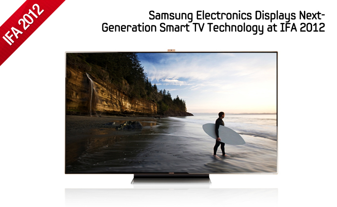 Samsung Electronics Displays Next-Generation Smart TV Technology at IFA 2012