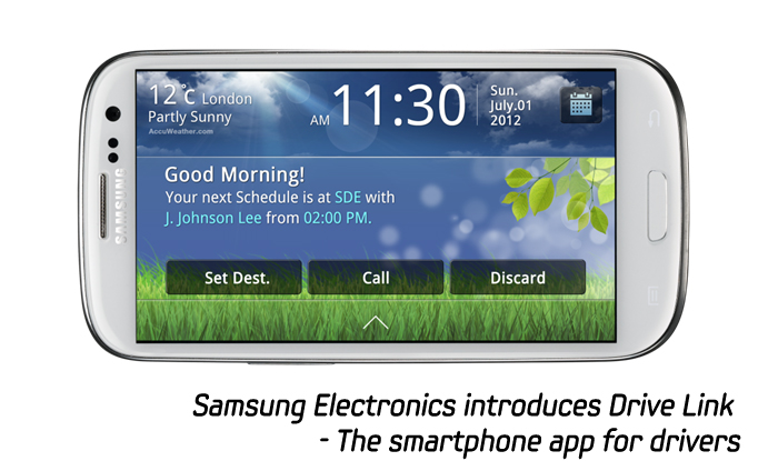 Samsung Electronics introduces Drive Link – The smartphone app for drivers