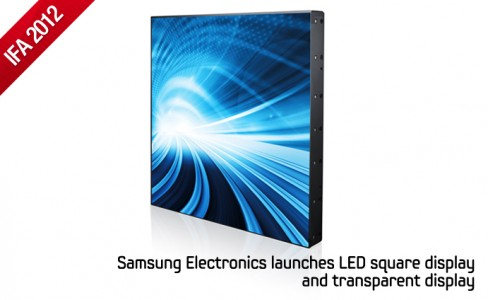 Samsung Electronics launches LED square display and transparent display_m