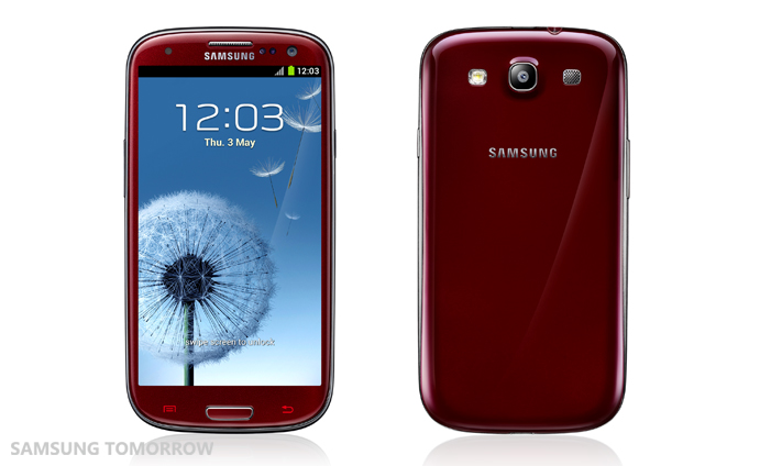 New colors of Samsung Galaxy S3: Garnet Red