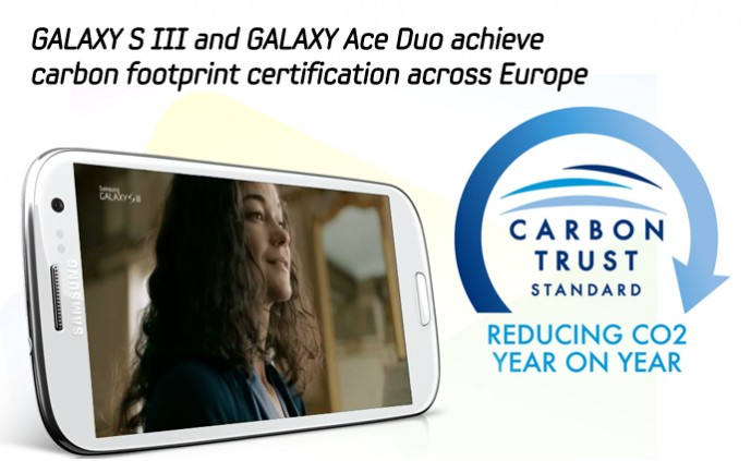 GALAXY S III and GALAXY Ace Duo achieve carbon footprint certification across Europe_m