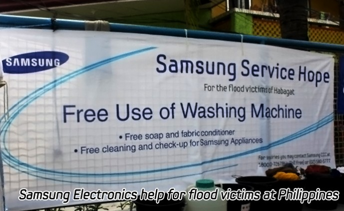 Samsung Electronics help for flood victims at Philippines_m