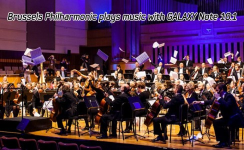 Brussels Philharmonic plays music with GALAXY Note_m