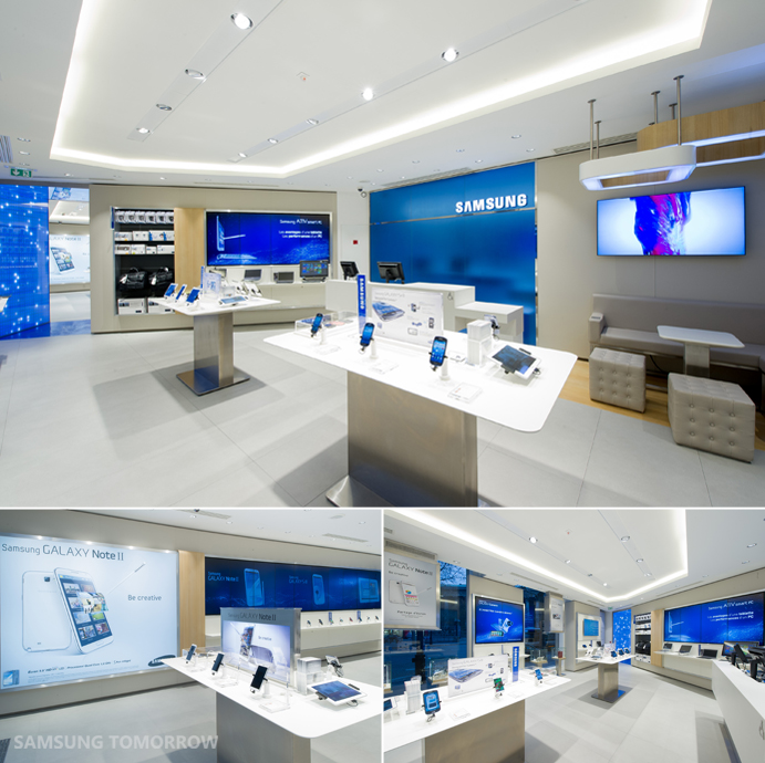 First samsung mobile store opens in paris samsung electronics official bl - Showroom point p paris ...