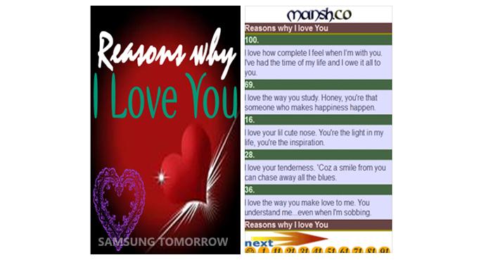 101 Reasons why I love you