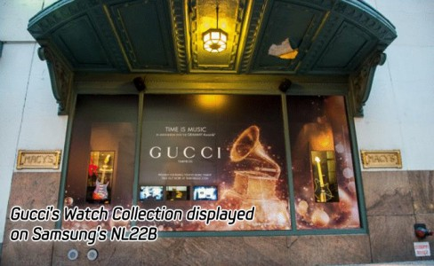Gucci's Watch Collection displayed on Samsung's NL22B
