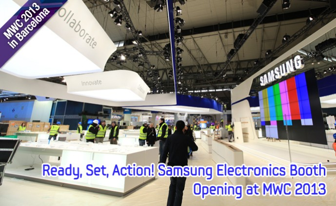 Ready, Set, Action! Samsung Electronics Booth Opening at MWC 2013_m