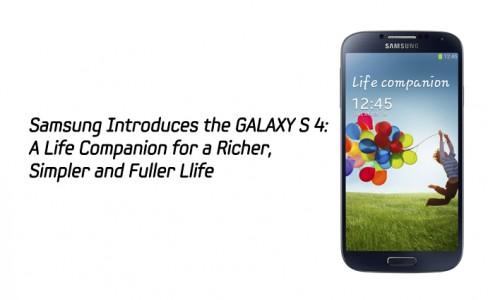 Samsung Introduces the GALAXY S 4-MAIN