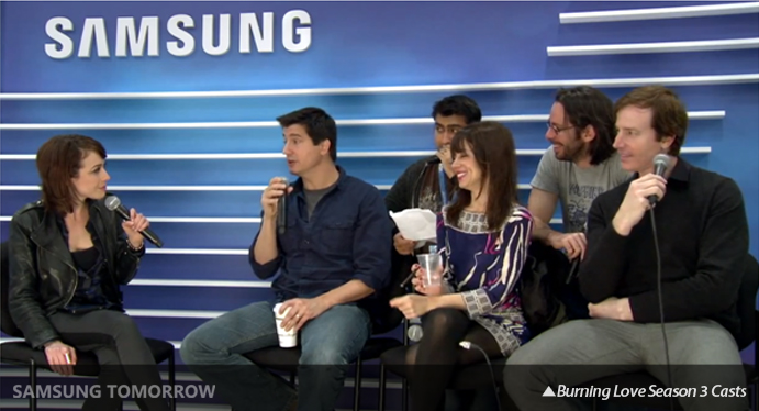 burning love season 3 casts samsung blogger lounge SXSW 2013