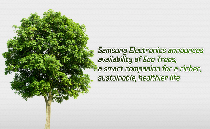 Samsung Electronics announces availability of Eco Trees, a smart companion for a richer, sustainable, healthier life