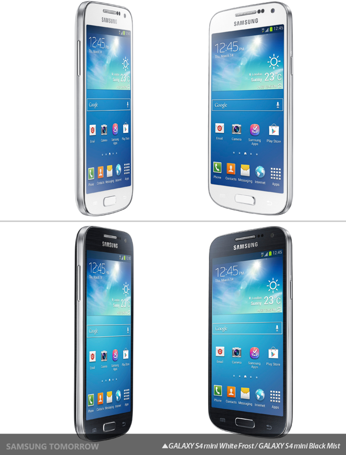 GALAXY S4 mini White Frost, Black Mist
