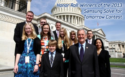 Honor Roll: Winners of the 2013 Samsung Solve for Tomorrow Contest