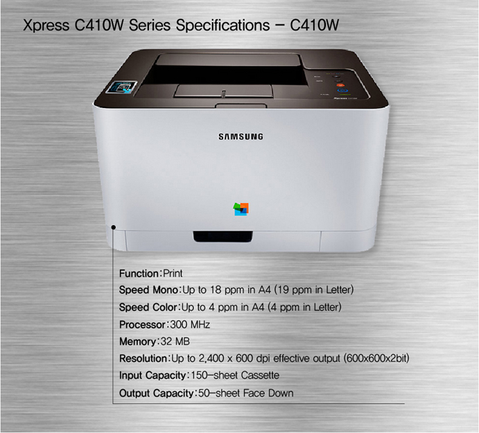 Xpress C410W Series Specifications- C410W
