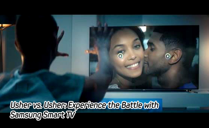 Usher vs. Usher: Experience the Battle with Samsung Smart TV