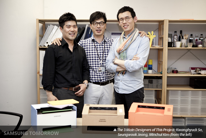 The 3 Main Designers of This Project: Kwanghyuck So, Seungwook Jeong, Minchul Kim (from the left)