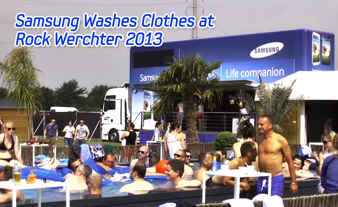 Samsung Washes Clothes at Rock Werchter 2013