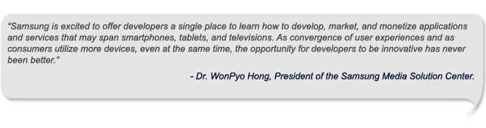 Dr. WonPyo Hong, President of the Samsung Media Solution Center