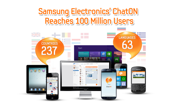 Samsung Electronics' ChatON Reaches 100 Million Users