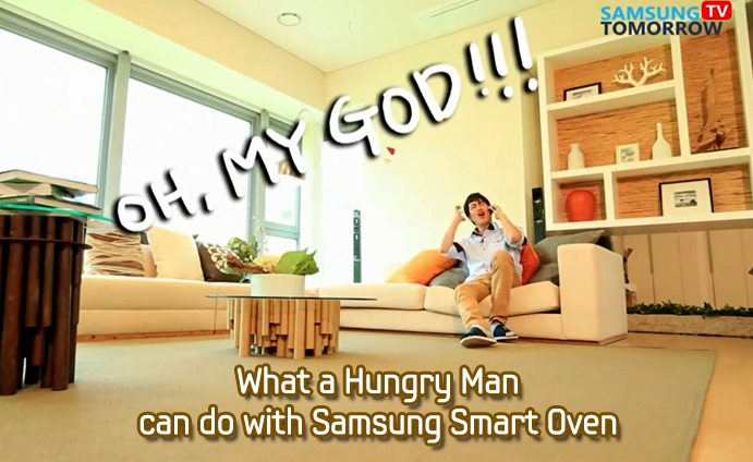 What a Hungry Man can do with Samsung Smart Oven