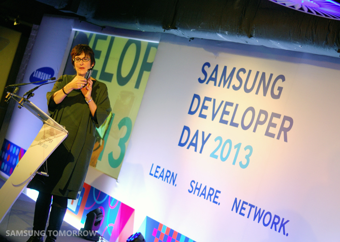 Lee Epting at the Keynote Samsung Developer Day