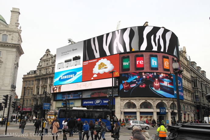 Samsung Printing Solutions Campaign in Piccadilly Circus in SOHO