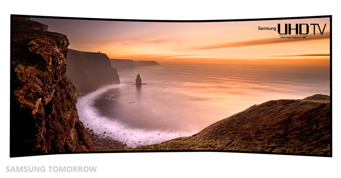 "World's First, Largest and Most Curved 105"" Curved UHD TV"