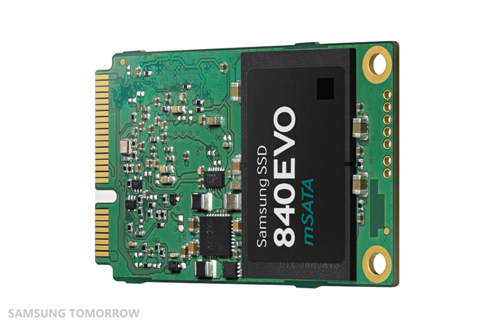 Image of the  Terabyte mSATA SSD (rotated view)