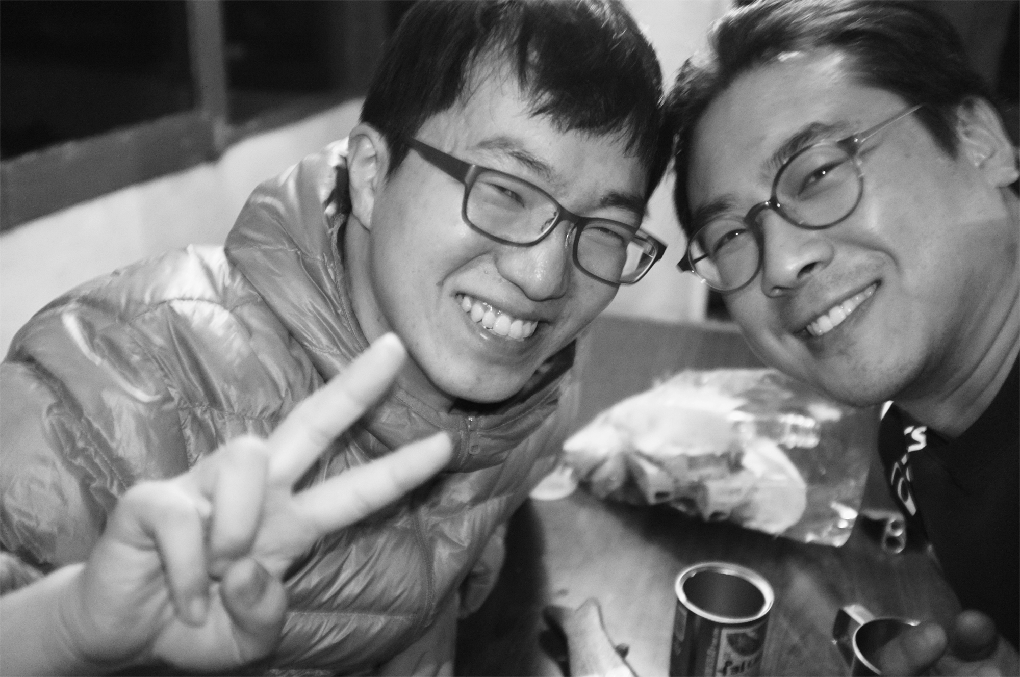 Songbaik Jin from the C-Lab at Samsung Printing Solution and Sangwook Cho from the Power Device Development Team at System LSI Samsung Electronics at the Himalayas