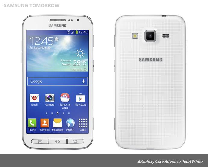Galaxy Core Advance Pearl White