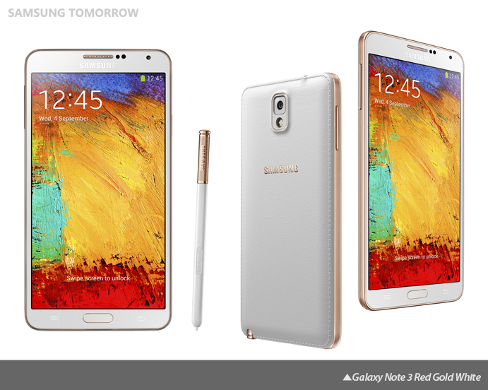 Galaxy Note 3 Red Gold White
