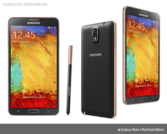 Galaxy Note 3 Red Gold Black