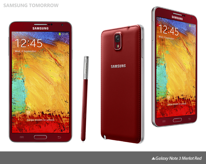 Galaxy Note 3 Merlot Red