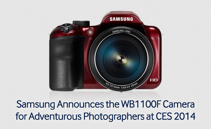 Samsung Announces the WB1100F Camera for Adventurous Photographers at CES 2014