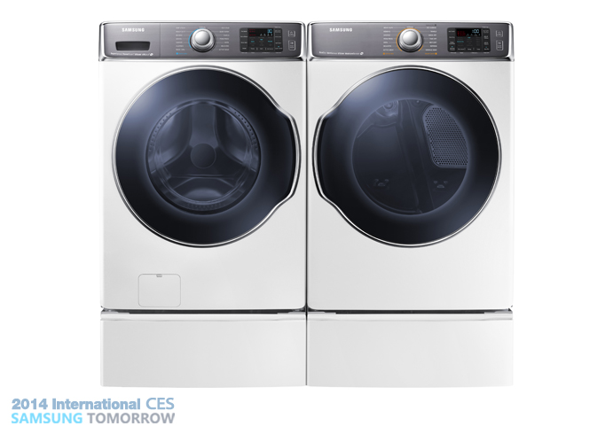 Samsung WF9000 front-load laundry pair