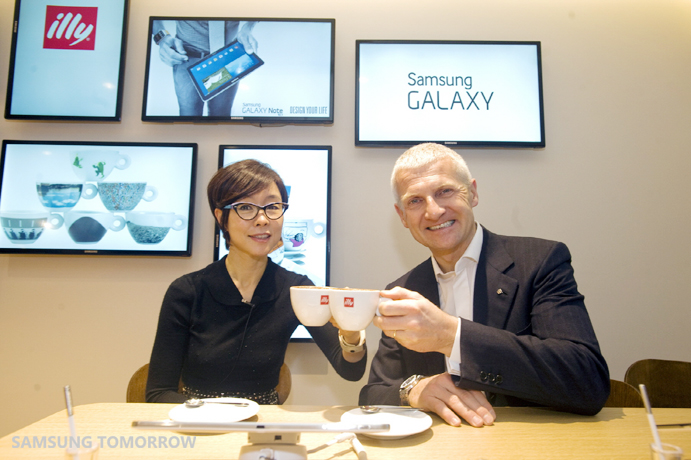 Samsung Electronics and illycaffè to Announce Worldwide Partnership