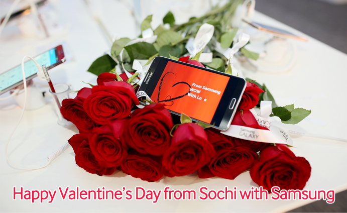 Happy Valentine's Day from Sochi with Samsung