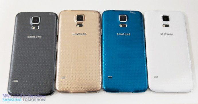 Samsung Galaxy 5 line-up_back