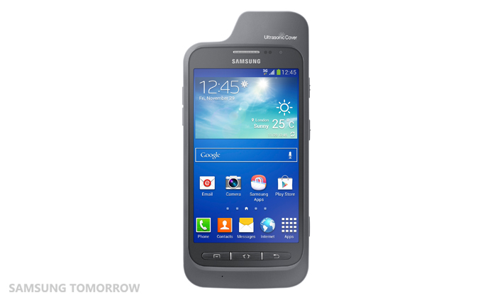 Galaxy Core Adcance Ultrasonic Cover [Front side with the device]