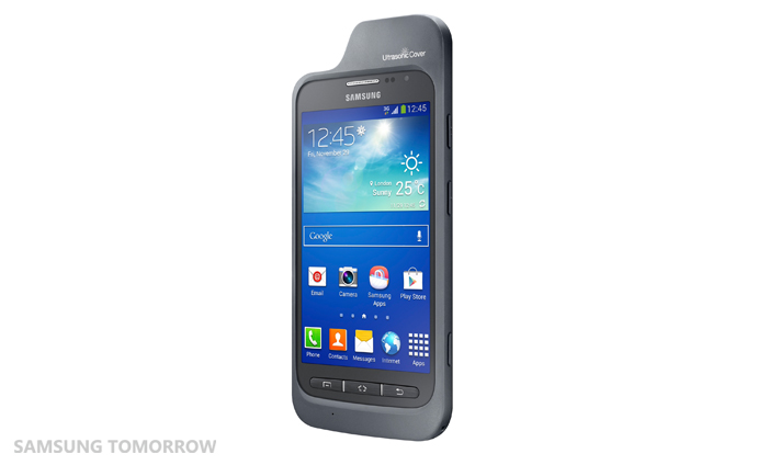 Galaxy Core Adcance Ultrasonic Cover [Tilted with the device]