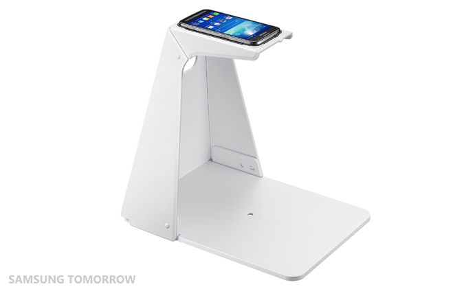 Optical Scan Stand with the device