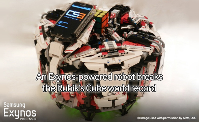 An Exynos-powered robot breaks the Rubik's Cube world record